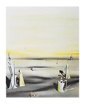 Yves Tanguy Die Luft in ihrem Spiegel, 1937