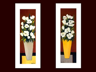 Hans Paus 2er Set 'Grey Vase' + 'Yellow Vase'