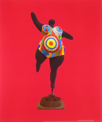 niki de saint phalle noire enceintes nana poster art imprim 58 0 x 48 0 cm ebay. Black Bedroom Furniture Sets. Home Design Ideas