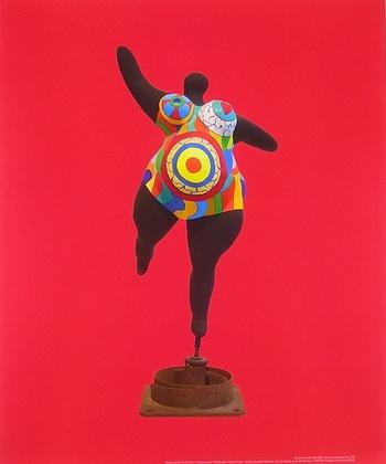 Niki De Saint Phalle Schwarze Schwangere Nana Poster Kunstdruck Bei