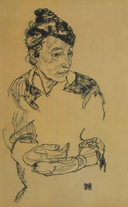 Egon Schiele Bildnis der Mutter Schieles   1918