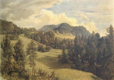 Friedrich Gauermann Landschaft bei Miesenbach