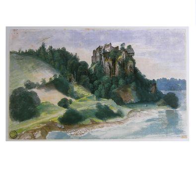 Albrecht Duerer Ansicht eines Felsenschlosses an einem Fluss