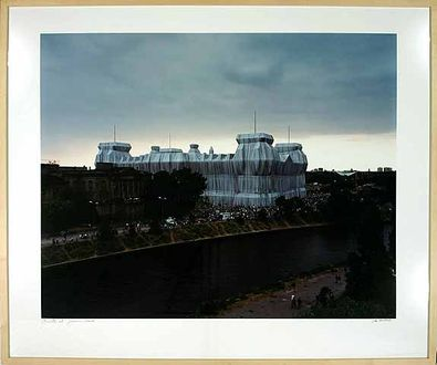 Wolfgang Volz Foto Wrapped Reichstag Berlin IV
