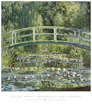 Claude Monet Waterlilies and Japanese Bridge