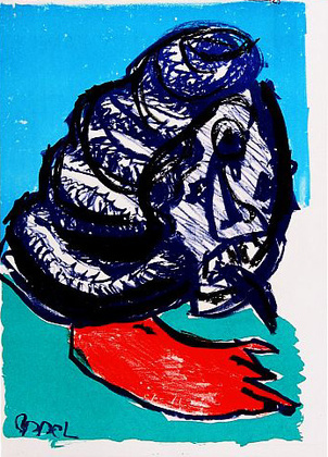 Karel Appel 129 (One Cent Life)