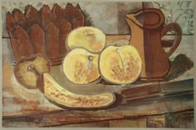 georges braque stilleben mit banane poster kunstdruck bei. Black Bedroom Furniture Sets. Home Design Ideas