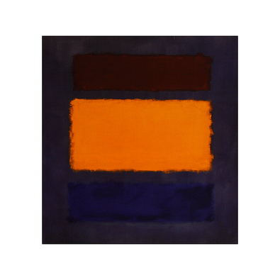 Mark Rothko Brown  Orange  Blue on Maroon