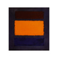 Rothko mark brown  orange  blue on maroon 33495 medium