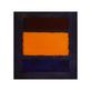 Mark Rothko Brown  Orange  Blue on Maroon