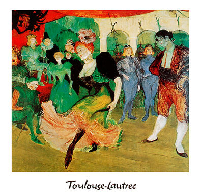 Henri Toulouse-Lautrec Dance at Moulin Rouge