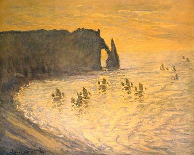 Claude Monet Die Klippen von Etretat