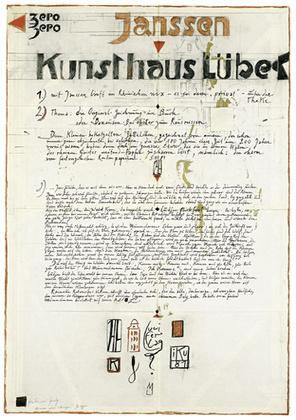 Horst Janssen Banausenblaetter zum rausreissen handsigniert