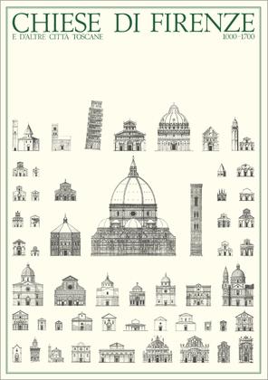 unbekannter Kuenstler Kirchen von Florenz