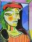 Picasso pablo femme au beret rouge gross medium