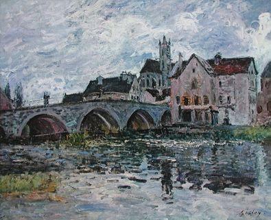 Alfred Sisley Die Bruecke von Moret   1887