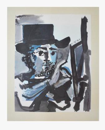 Pablo Picasso Maler bei der Arbeit