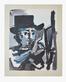 Picasso pablo maler bei der arbeit medium
