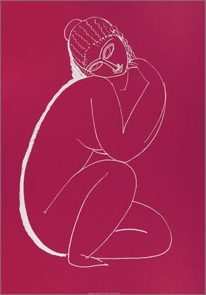 Amedeo Modigliani Nudo accosciato, 1910-11