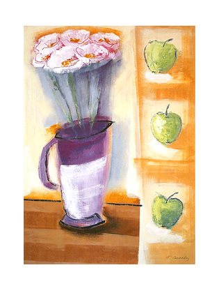 Francoise Conzales Flowers and Apples