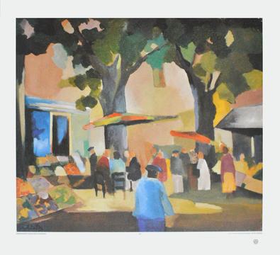 Werner Lichtner-Aix Markt in der Provence