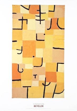 Paul Klee Zeichen in gelb