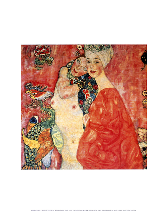 gustav klimt women friends poster kunstdruck bild 36x28cm ebay. Black Bedroom Furniture Sets. Home Design Ideas