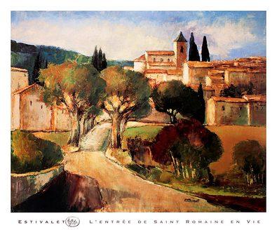 Elisabeth Estivalet Einfahrt zu Saint Romain en Vie