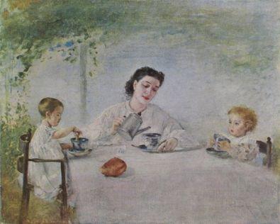 Romako anton die familie des kuenstlers large