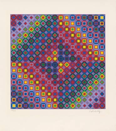 Victor Vasarely Diam I (1988)