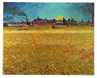 Vincent van Gogh Sommerabend bei Arles, 1888
