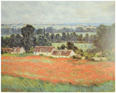 Claude Monet Mohnfeld bei Giverny
