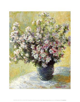 Berühmt Claude Monet Vase mit Blumen Poster Kunstdruck bei Germanposters.de &UO_01