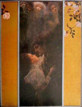 Gustav Klimt Liebe K 103 (Poster)