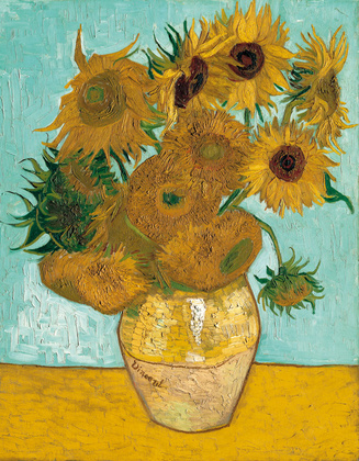 Vincent van Gogh Vase mit Sonnenblumen
