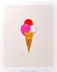 Andy Warhol Ice Cream Dessert c.1959 (red pink white)