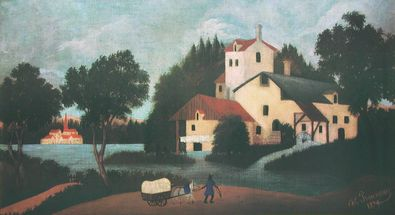 Henri Rousseau Landschaft mit Muehle
