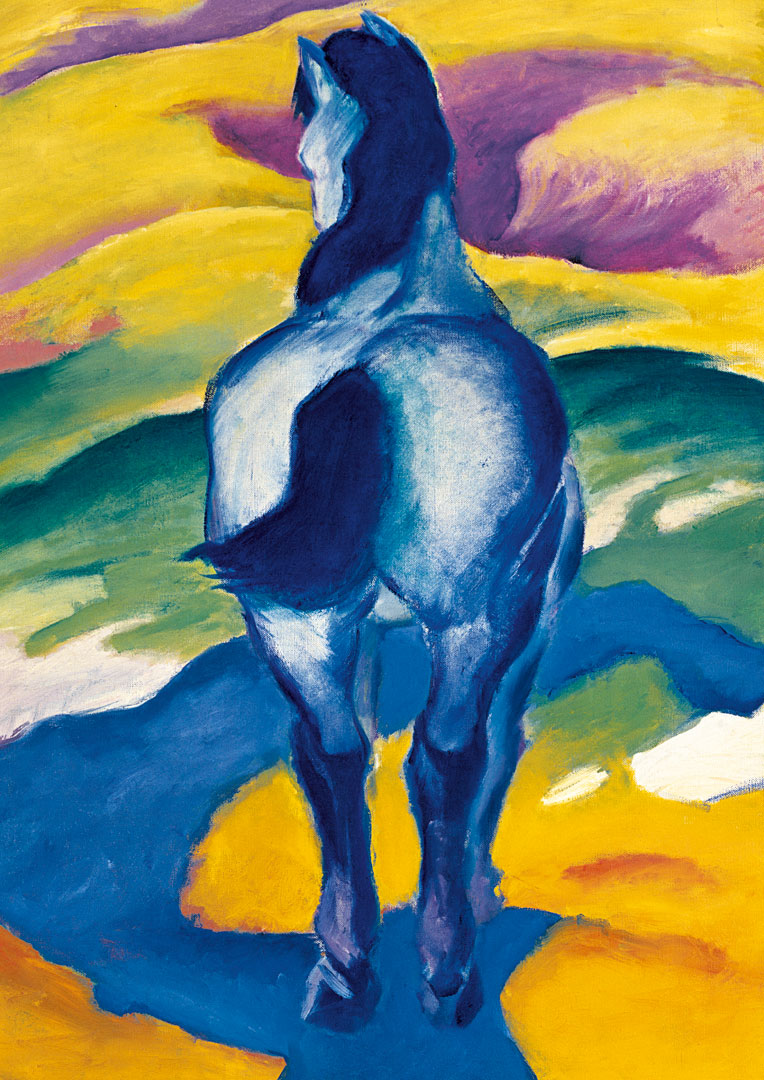 Franz Marc Blaues Pferd Ii Poster Kunstdruck