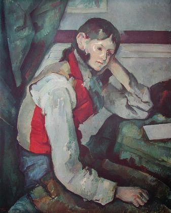 Paul Cezanne Der Junge mit der roten Weste