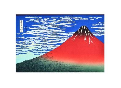 Katsushika Hokusai Red Fuji