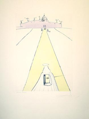 Salvador Dali 667 Gott, Zeit, Weltraum (1974)