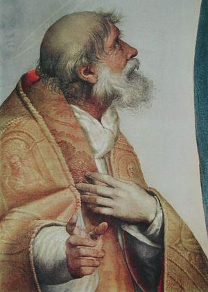 Raphael Sixtinische Madonna   Papst Sixtus (Ausschnitt)