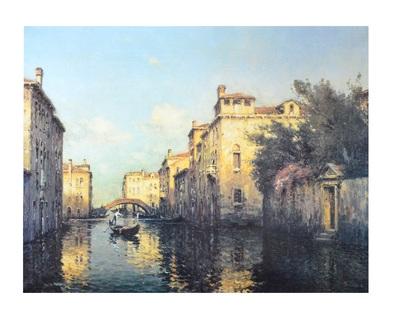 Antoine Bouvard Venetian Canal Scene