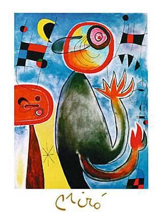 Joan Miro Les echelles en roue