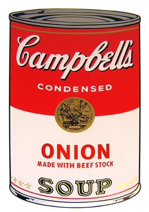Andy Warhol Campbells Soup - Onion
