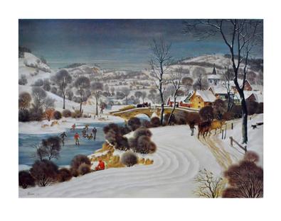 Werner Peiner Eifeldorf im Schnee