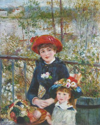 Pierre Auguste Renoir Auf der Terrasse