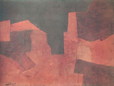 Serge Poliakoff Composition   Marron