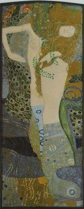 Gustav Klimt Wasserschlangen I   ca 1904