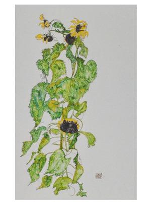 Egon Schiele Sonnenblumen   1917